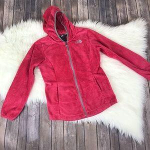 The North Face Fleece Zip Up Hoodie Girl 10/12